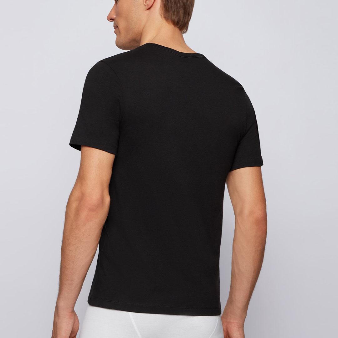Hugo Boss - Black Three-pack of underwear T-shirts in cotton