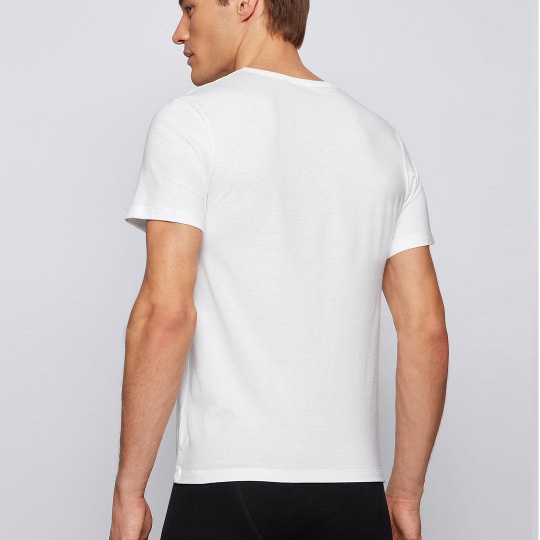 Hugo Boss - White Three-pack of underwear T-shirts in cotton