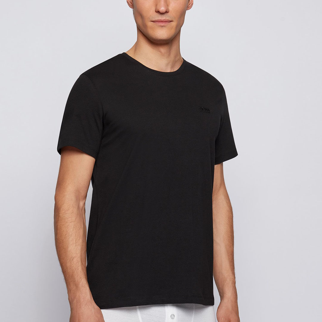 Hugo Boss - Black Two-pack of underwear T-shirts in cotton