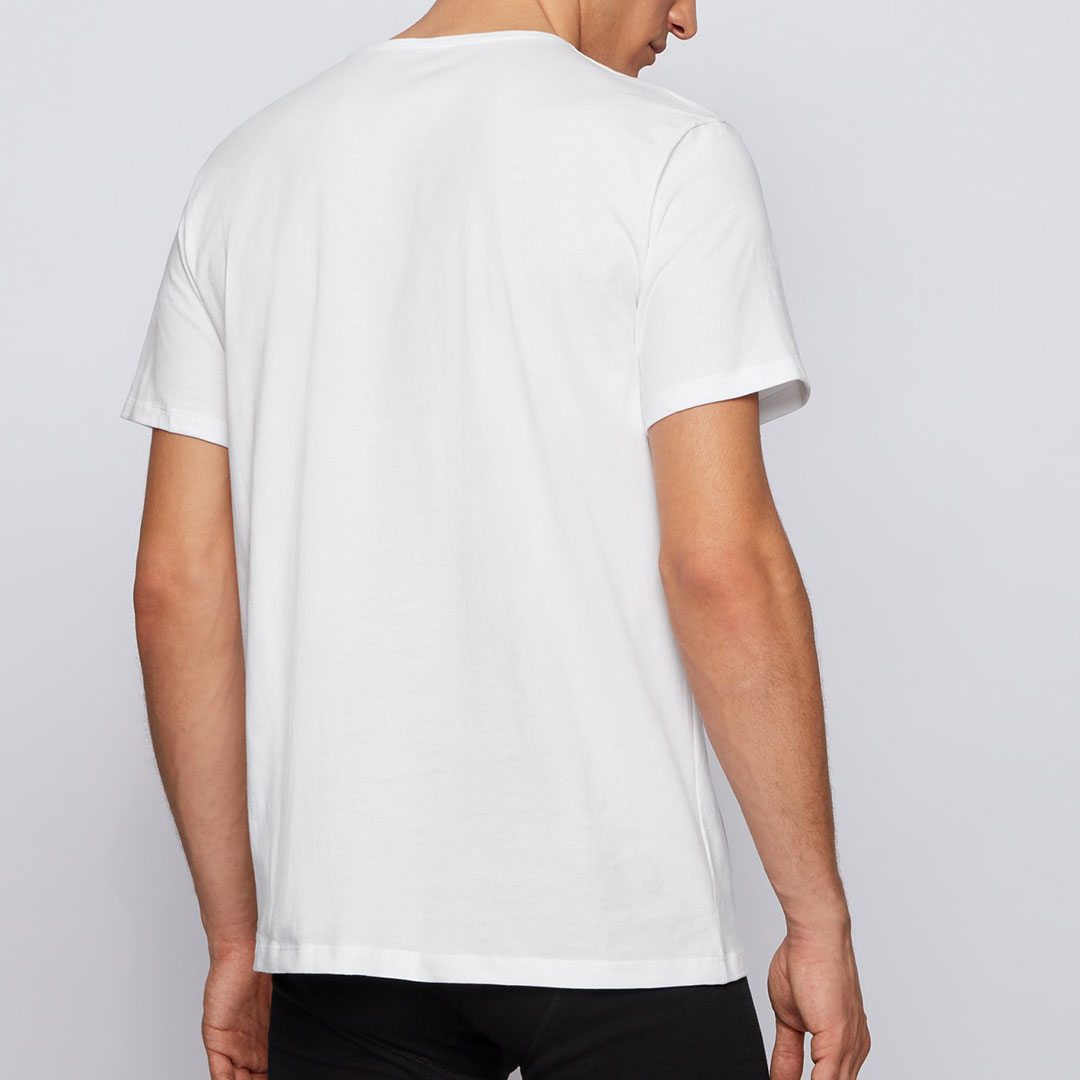 Hugo Boss - White Two-pack of underwear T-shirts in cotton