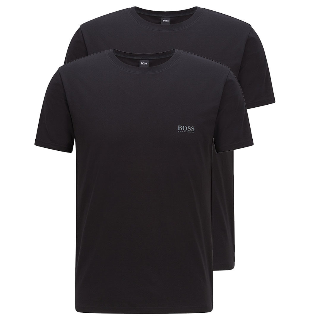Hugo Boss - Black Two-pack of underwear T-shirts with chest logo