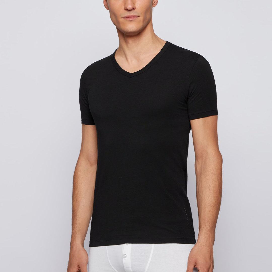 Hugo Boss - Black Two-pack of slim-fit underwear T-shirts