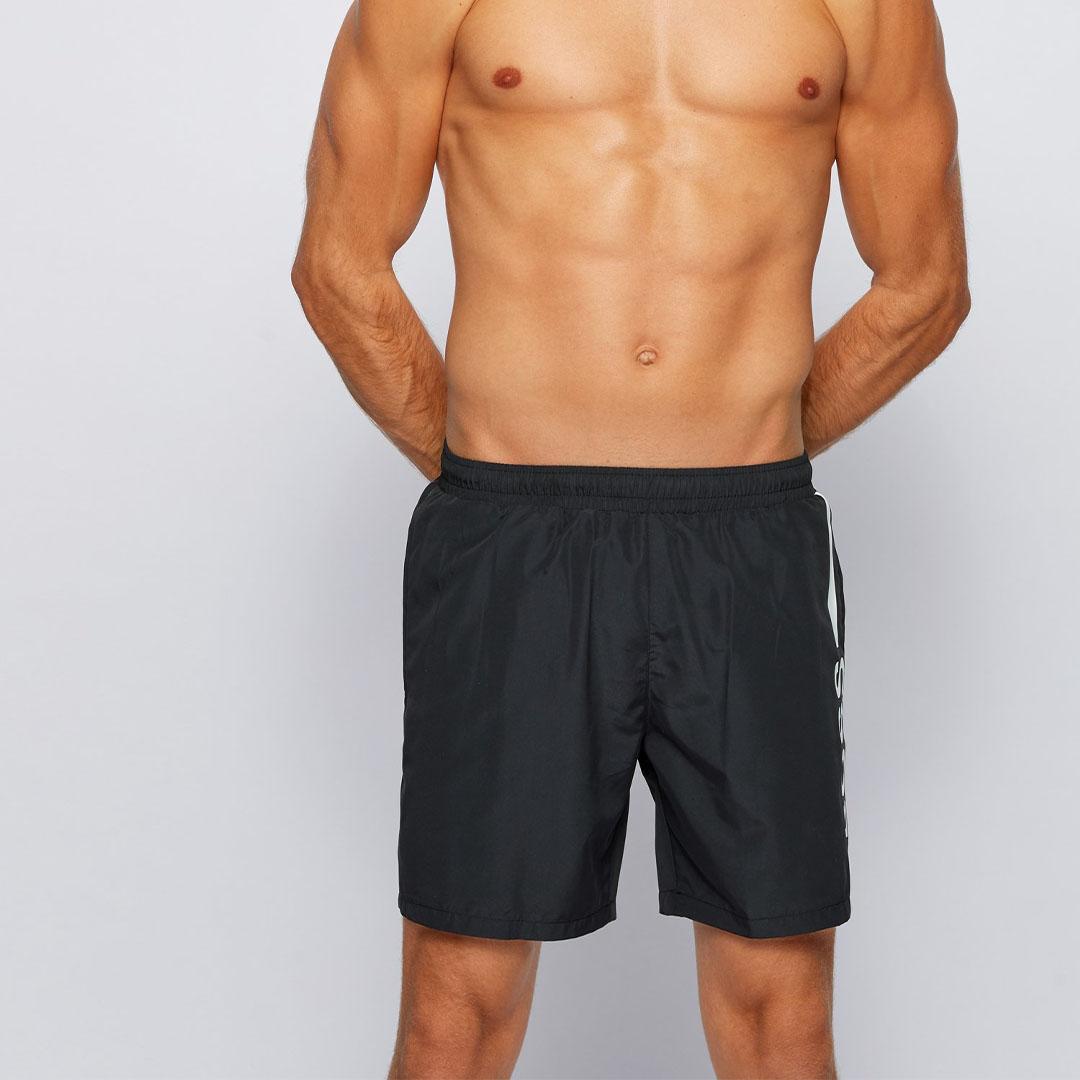 Hugo Boss - Black Quick-dry logo swim shorts in recycled fabric 50439746